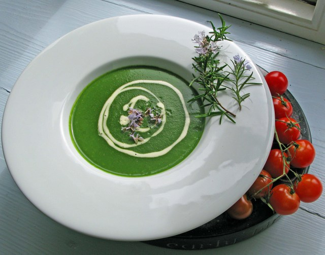 Spinach & Rosemary Soup - Simply Delicious Food Fast - Ballymaloe Cookery School