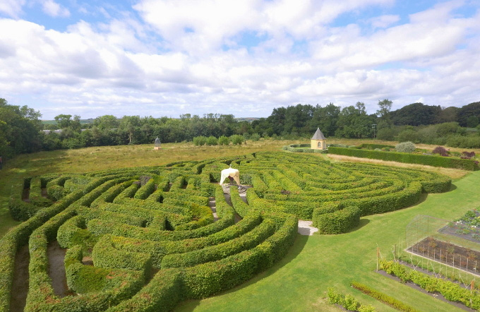 Ariel view of Ballymaloe Garden Celtic Maze