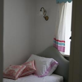 Cottage bedroom at Ballymaloe Cookery School