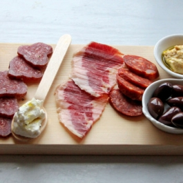 Tasting Board of Cured meat at Ballymaloe Cookery School