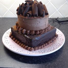 A Double Chocolate Cake decorated by Pamela Black