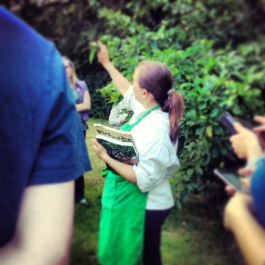 Emer Fitzgerald, Senior Tutor at Ballymaloe Cookery School leading students on a forgaing walk