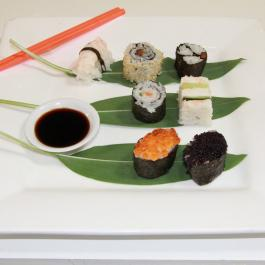 Variety of sushi at Ballymaloe Cookery School