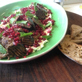 Labneh with Grilled Lamb and Pomegranates - Small Plate Ideas - Ballymaloe Cookery School