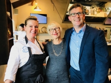 Mary Dowey and Rachel Allen and Colm at Ballymaloe Cookery School Oct 2017 IMG_2392.jpg